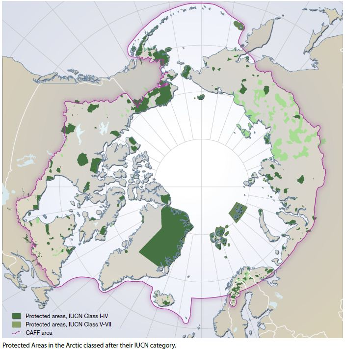 Protected Areas of the Arctic / Arctic Biodiversity Trends 2010. Map by Hugo Ahlenius, Nordpil. Data available for download at ArcticData.is