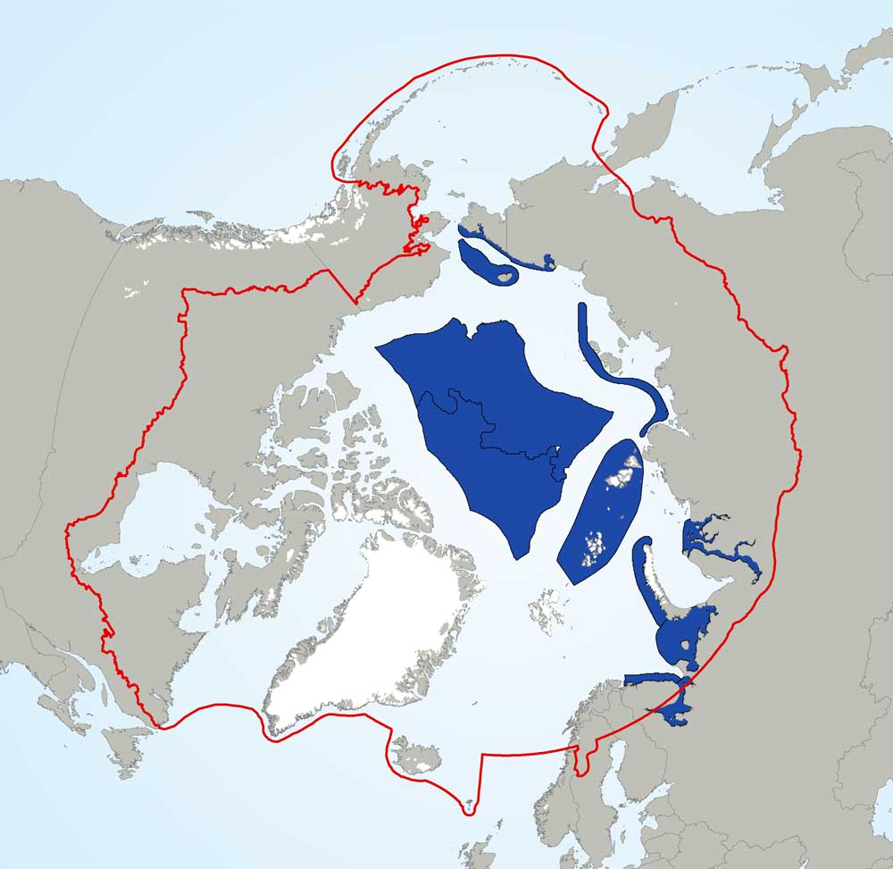 Map of EBSAs in the Arctic