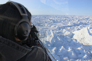 Observing sea ice cover of the Arctic Ocean / Photo: Shutterstock, George Burba