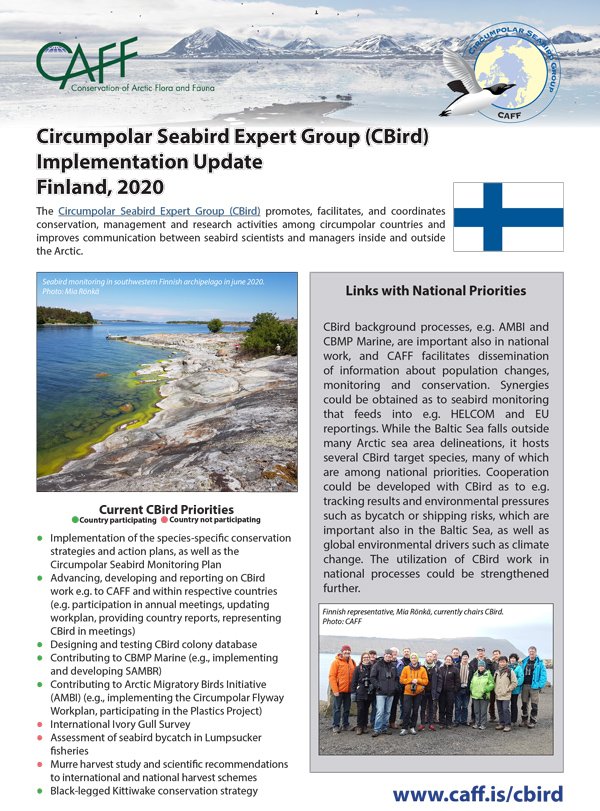 CBird country update FINLAND 2020 1