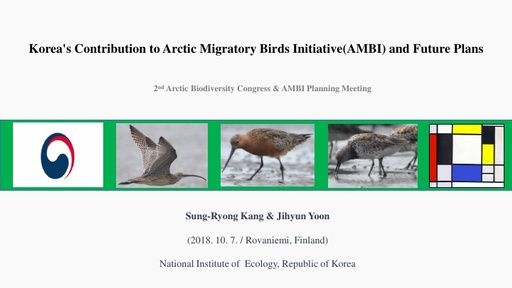Korea's Contribution to Arctic Migratory Birds Initiative(AMBI) and Future Plans